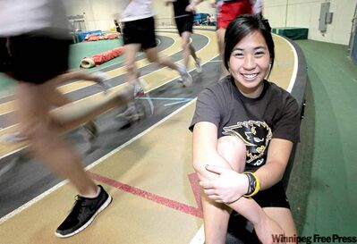Lisa Wong and teammates are gearing up for this weekend's Bison Classic indoor championship.