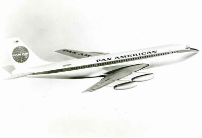 The Boeing 707 revolutionized commercial overseas air travel.