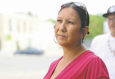 Ruth Bonneville / Winnipeg Free Press Althea Guiboche says Gord Steeves and his wife, Lorrie, need to put action behind their words.