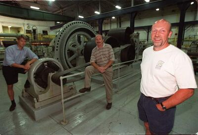 Leon Moryl (right), partner Keith Budd (middle) and brewmaster Stephan Lieftuechter planned to turn the James Avenue Pumping Station into a brew pub, restaurant and museum.
