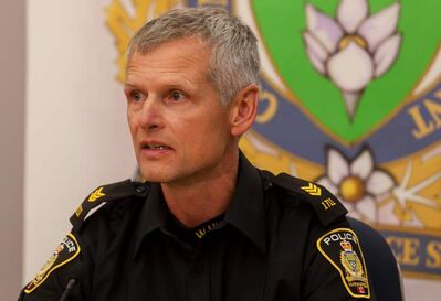 Patrol Sgt. Wally Antoniuk updated the media Tuesday on an arrest in the Maryk child abduction case.