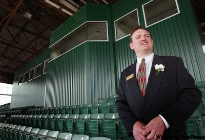 Track announcer Darren Dunn has a new handle: Assiniboia Downs CEO.
