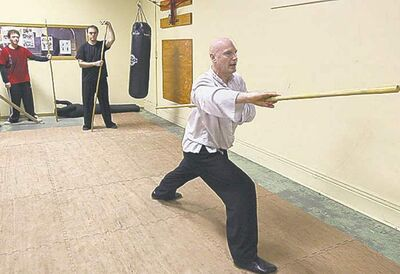 David Cliffe teaches Shaolin kung fu at the Ching Wu Athletics Association. 'My bigest challenge originially was that I was white.'