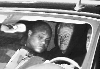 David Martin / The Associated PressVideo image shows former president Bill Clinton leaving hospital Wednesday after visiting his wife, who was treated successfully for a blood clot in her head.  Secretary of State Hillary Rodham Clinton who is hospitalized with a blood clot in her head. Doctors are treating the clot with blood thinners and say they are confident she will make a full recovery. (AP Photo/)