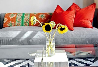 Simply adding a few flowers can really make a room bloom to life.
