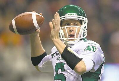 Saskatchewan Roughriders' quarterback Drew Willy
