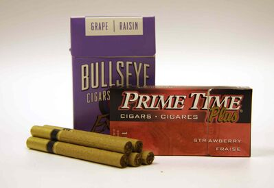 Packages of flavoured cigars are shown in this file photo. Tobacco companies are being accused of skirting highly publicized federal legislation designed to keep kids from getting hooked on flavoured cigarettes.