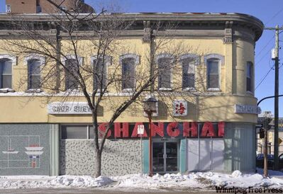 The Coronation Block at the corner of King Street and Alexander Avenue housed the mayor's office and council chambers before the Shanghai restaurant opened there.