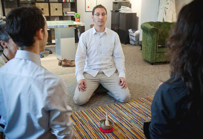 Devoting just 15 minutes a day to meditation can turn off negative thoughts and reduce stress.