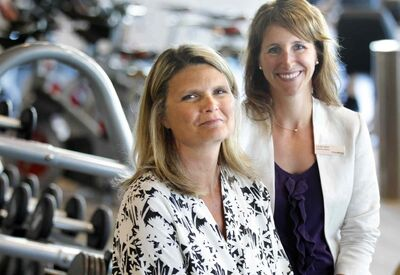 Carrie Solmundson (left), the CEO of Seven Oaks and Casie Nishi, executive director of the Wellness Institute at Seven Oaks Hospital.