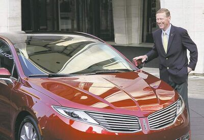 Mark Lennihan / The Associated Press archivesFord CEO Alan Mulally praised his new Lincoln MKZ�s design.