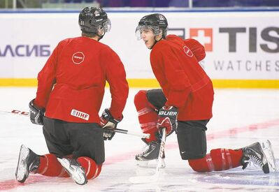 Nathan Denette / the canadian pressTeam Canada captain Ryan Nugent-Hopkins (right) and Jonathan Huberdeau are two players who would be called to NHL training camps.