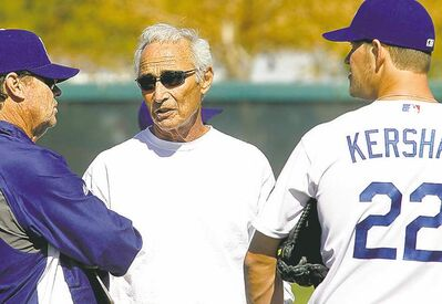 Luis Sinco / Los Angeles Times / MCT archivesDodgers pitching legend Sandy Koufax takes in spring training in Arizona.