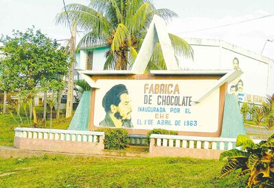 Che Guevara's chocolate factory is located in Baracoa, Cuba's oldest and most remote city.