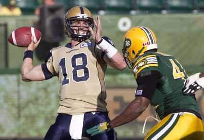 Blue Bombers fans have little to look forward to if the club's pivots, such as Justin Goltz, continue to play like they did Saturday against Edmonton.