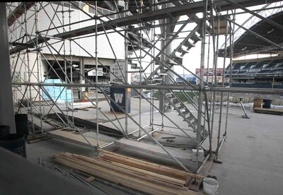 Investors Group Field has been damaged by water, and concerns have been raised about flaws in the stadium's design.