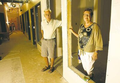 Gail Schnabl and Bob Clarkson in the refurbished basement of the former church.
