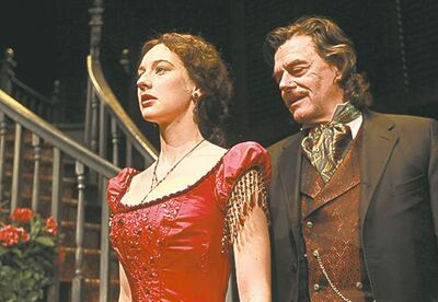 Royal Manitoba Theater Centre production of Gone With The Wind- Scarlett O�Hara played by Bethany Jillard and Rhett Butler played by Tom Mcamus� Kevin Prokosh story- January 03, 2013   (JOE BRYKSA / WINNIPEG FREE PRESS)