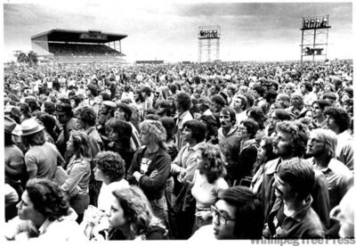 Life in the Fast Lane: The Eagles perform at Assiniboia Downs, July 27, 1978. Were you there? Do you recognize anyone in this picture?