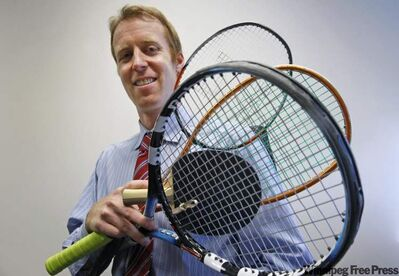 Evan Mancer is making a name for himself in rackets game.