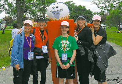 Roberta MacDonald's Walking Runners team at the Challenge for Life.