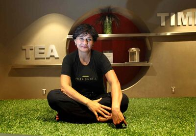 Winnipeg entrepreneur Ida Albo at her Yoga Public yoga studio in downtown Winnipeg.