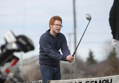 TJ Beggs was at Hackers & Smackers Driving Range in Charleswood Saturday. He and other golf enthusiasts can hit city operated courses starting Wednesday.