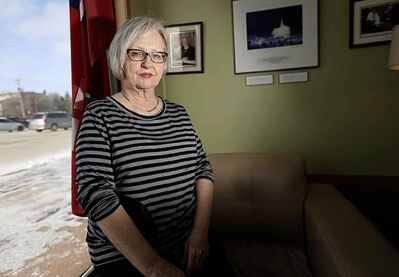 MP Joy Smith at her constituency office, Sunday, February 15, 2015. She is calling for a boycott of 50 Shades of Grey. (TREVOR HAGAN/WINNIPEG FREE PRESS)