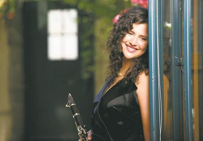 supplied photoReed �em and weep: Jazz musician Anat Cohen is adept at tenor and soprano saxophones, as well as the clarinet.