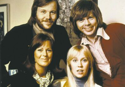 ABBA in 1974: (clockwise, from top left) Benny Andersson, Bj��rn Ulvaeus, Anna-Frid Lyngstad and Agnetha F��ltskog.