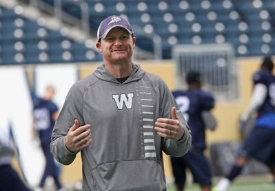 Head coach Mike O'Shea said at practice this morning at Investors Group Field the time off is good for letting his banged-up Bombers to heal.
