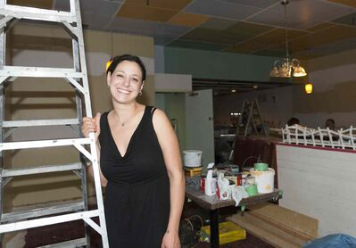 Talia Syrie is busy readying the new Tallest Poppy for an early-fall opening inside the Sherbrook Inn.