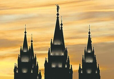 The Salt Lake Temple of the Church of Jesus Christ of Latter-day Saints.
