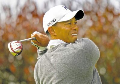 Anda Chu / Oakland Tribune / MCTTiger Woods tees off on the 17th hole during the first round of the U.S. Open at the Olympic Club in San Francisco on Thursday. He carded a one-under 69.