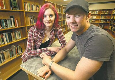 Phil Hossack / Winnipeg Free PressLuke Storkey and Katherine Kellner say Kelvin was the first city high school to get a gay-straight alliance. The group formed four years ago.