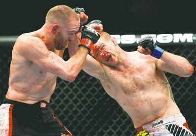 It takes more than a little blood, this time being spilled by Evan Dunham in UFC 152, to faze MMA fans.
