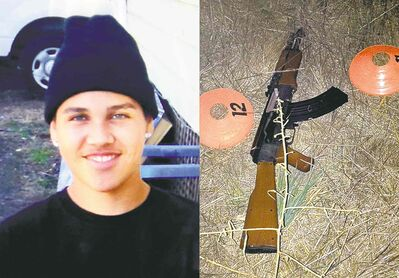AP Photo / Family via The Press Democrat, Sonoma County Sheriff�s DepartmentPhotos show an undated photo of 13-year-old Andy Lopez and the replica assault rifle he was holding.
