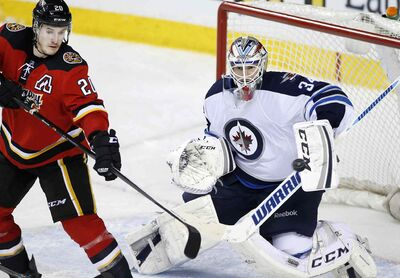 Goalie Michael Hutchinson started three games for the Winnipeg Jets last season, going 2-1.