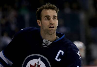 Andrew Ladd led the NHL with eight points in three games to help the Jets pick up five out of a possible six points in their push for a playoff berth.