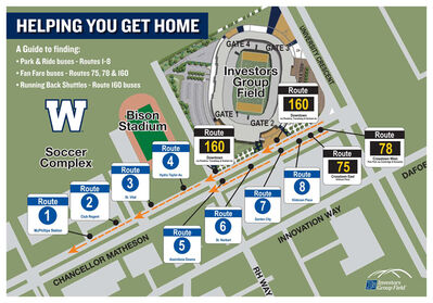 A fan map from the Blue Bombers.