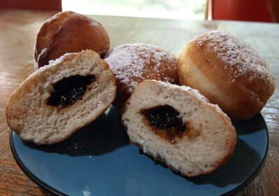 Prune-filled pampushkes.