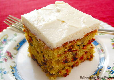 Beet and carrot cake