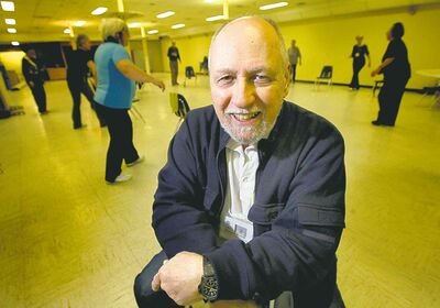 Richard Howell has been teaching fitness classes to seniors for 10 years. Having a good time is what makes it rewarding.