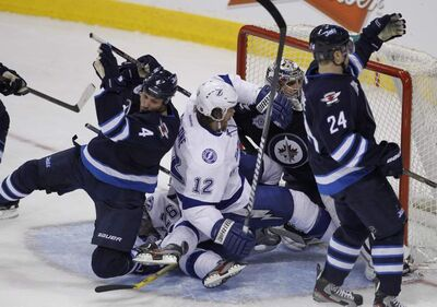 The Jets'  final game of the season was against the Tampa Bay Lightning last Saturday.