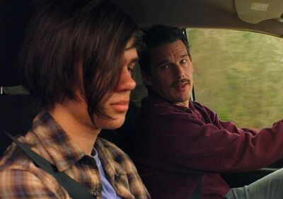 Ellar Coltrane, left, and Ethan Hawke in Boyhood.