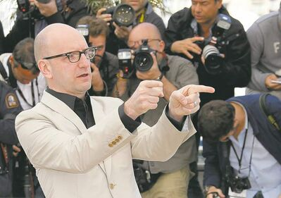 Director Steven Soderbergh, shown during a photo shoot at Cannes, is stepping away from moviemaking.