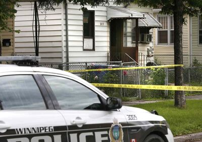 The fire scene on Aberdeen Avenue that was determined to also be a homicide case.