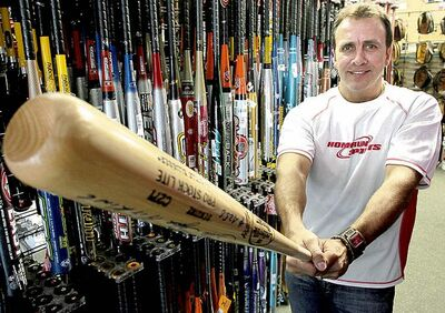 Scott Neiles of Home Run Sports says wooden bats are making a comeback over aluminum.