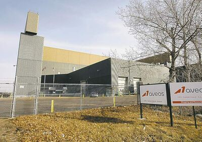 The mothballed Aveos Fleet Performance aircraft maintenance plant in Winnipeg.