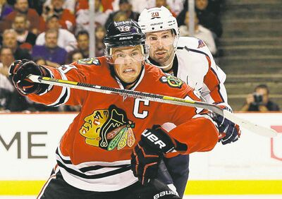 Chicago's Jonathan Toews is part of Canada's enviable depth at centre.